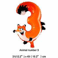 Фольгированный воздушный шар цифра 3