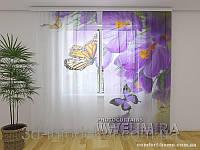 ФотоТюль Крокусы и бабочки