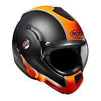 Мотошлем ROOF Desmo Flash черный мат оранжевый 61(XL)