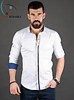 Высококачественна мужская рубашка белого цвета