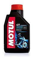 Масло моторное для мотоциклов минеральное MOTUL 3000 4T SAE 20W50 (1L) 104048