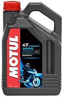 Масло моторное для мотоциклов минеральное MOTUL 3000 4T SAE 20W50 (4L) 104050