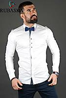 Мужская рубашка под бабочку белого цвета