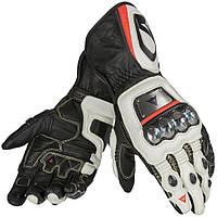 Мотоперчатки Dainese Full Metal D1 кожа черный белый красный S