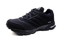 Зимние кроссовки Adidas Spring Blade, на меху, замша, черные, р. 41 42 43 44 45 46
