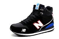 Кроссовки зимние New Balance 996, высокие, на меху, черные с белым, р. 41 42 43 44 45