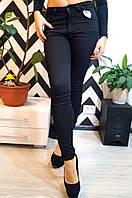 """Модные, женские джинсы-скини """"Черные, со змейками по бокам"""" Турция!"""