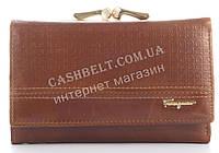 Компактный стильный элитный прочный кожаный женский кошелек Salvatore Ferragamo art. SF89-2063C коричневый