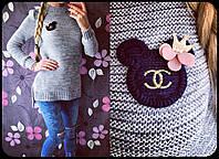 Женский красивый свитер с украшением, 4 цвета