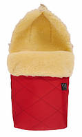 Тёплый конверт из натуральной овчины Kaiser  Natura, размеры  90 х 45 см, (цвет красный)