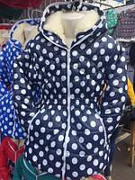 """Куртка детская, подростковая """"Горох""""для девочек на меху"""