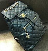 Модный и стильный рюкзак Chanel Шанель черный эко-кожа