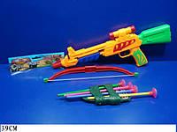 Арбалет 407A лук, стрелы, колчан для стрел в пакете, 39 см