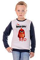 Свитшот детский angry bird D135 - т.синий: 128,134,140,146,152,158