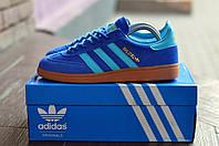 Adidas spezial мужские кроссовки голубые в фирменной коробке