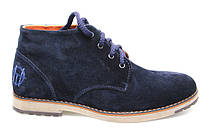 Ботинки зимние мужские замшевые  TOP - HOLE  blue (ТОП ХОЛ)