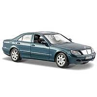 Автомодель 2002 Mercedes-Benz S-Class (серебристо-синий) 31955 ТМ: Maisto