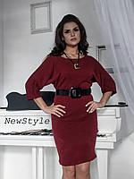 Женское теплое  платье  Летучая мышь батал