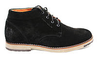 Ботинки зимние мужские замшевые  TOP – HOLE(топ-хол) чёрные
