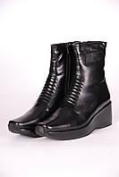Сапоги женские 385-5 кожаные черные