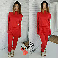 Женский модный костюм, красного цвета
