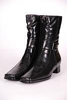 Сапоги женские 548-3 кожаные черные
