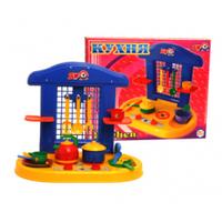 Кухня детская игрушечная с посудкой Технок