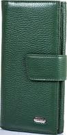 Красивый женский кожаный кошелек CANPELLINI SHI700-299  темно-зеленый