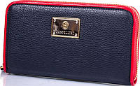 Удобный женский кожаный кошелек CANPELLINI SHI705-241DM синий с красным