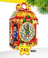 """Новогодняя упаковка 742 """"Часы с тиснением"""""""