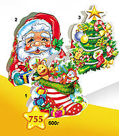 "Новогодняя упаковка 755*1*2*3 ""Носок"", ""Санта"", ""Ёлочка"""