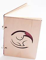 Блокнот ручной работы деревянный ручной работы «Кошечка» SKU0000350
