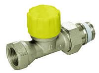 Термостатические радиаторные клапаны для двухтрубных систем с пониженным Kv и высокоточной предварительной настройкой, проходной, DN 15, 95 мм