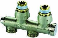 Поворотные узлы нижнего подключения для панельных радиаторов типа U1 и U2 с функцией отсечения, слива и наполнения - F10026