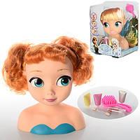 Кукла 8828 Ледяное сердце,голова куклы для причёсок и макияжа