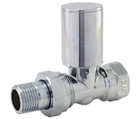 SD FORTE Кран радиаторный прямой хромированный 1/2*1/2 Sandi Forte