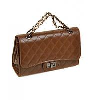 Сумка Женская Клатч иск-кожа 07-1 8801 brown, сумка маленькая, удобная