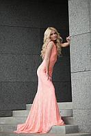 Платье женское с открытой спиной длинное Ал 690