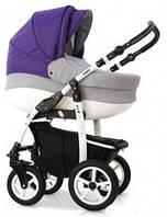 Детская универсальная коляска 2 в 1 VERDI FIO 01, серый/фиолет