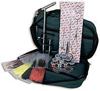 Набор инструментов Lineaeffe для вязания мушек 12 наимен.(станок,ножницы,пинцет,нитки,перья) в чехле