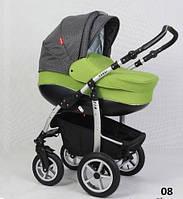 Детская универсальная коляска 2 в 1 VERDI FIO 08, салатовый/серый