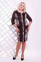 Женское платье батал Бонжур  Lenida шоколад 50-58 размеры