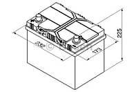 """Аккумулятор BOSCH S4 Silver 60Ah , EN 540 , for JAPAN левый """"+"""" , ( Bosch 0 092 S40 250 ) 232*173*225 (Д*Ш*В)"""