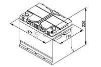 "Аккумулятор BOSCH S4 Silver 70Ah , EN 630 , for JAPAN правый ""+"" , ( Bosch 0 092 S40 260 ) 261*175*220 (Д*Ш*В)"