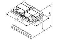 """Аккумулятор BOSCH S4 Silver 70Ah , EN 630 , for JAPAN левый """"+"""" , ( Bosch 0 092 S40 270 ) 261*175*220 (Д*Ш*В)"""