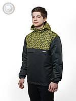 Весенне-осенняя куртка ветровка (анорак) Urban Planet - Scratch (жёлтый \ чёрный)