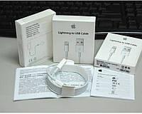 USB кабель шнур для iPhone 5, 5s,6 Plus Ipad 100% Оригинал!, Lightning , кабель для зарядки и передачи данных