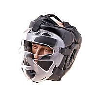 Шлем для единоборств с прозрачной пластиковой маской PVC EVERLAST EV-5009BL