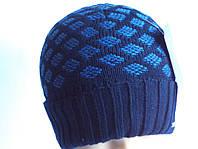 Шапка мужская вязанная  . Модель шапки MN 2 .Цвета разные .