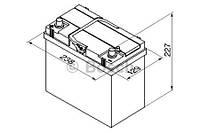 """Аккумулятор BOSCH S4 Silver 45Ah , EN 330 , for JAPAN левый """"+"""" , ( Bosch 0 092 S40 230 ) 238*129*227 (Д*Ш*В)"""